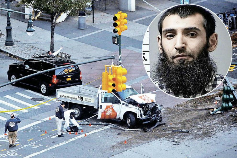 Террорист раздавил на грузовике около десятка человек в Нью-Йорке