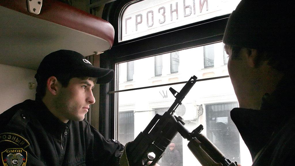 Сотрудники силовых служб в Чечне