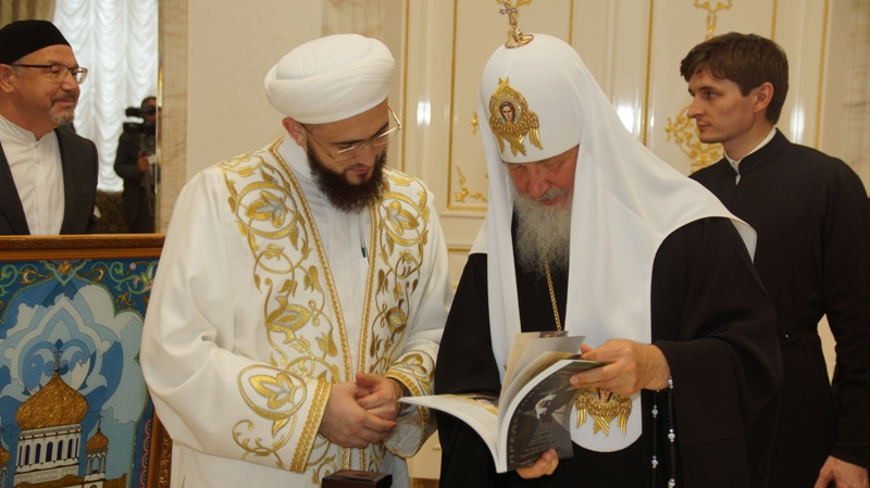Муфтий Самигуллин и его коллега из РПЦ Патриарх Кирилл