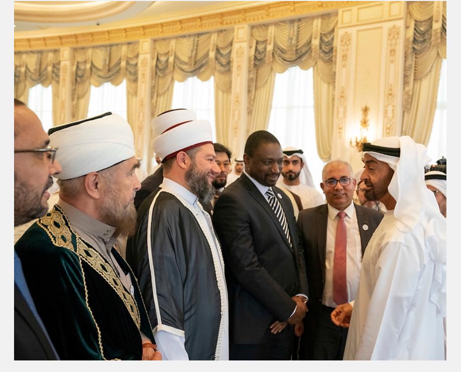 Встреча с наследником престола Эмирата Абу Даби