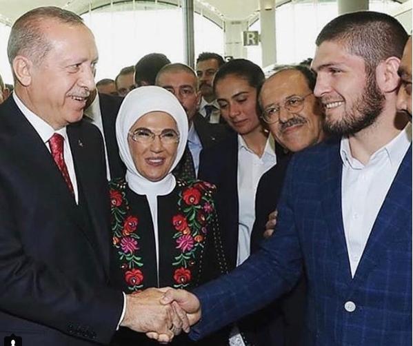 Президент Турции, первая леди и российский боец ММА
