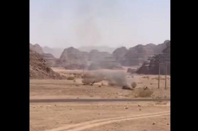 Опубликованы кадры с места крушения саудовского истребителя