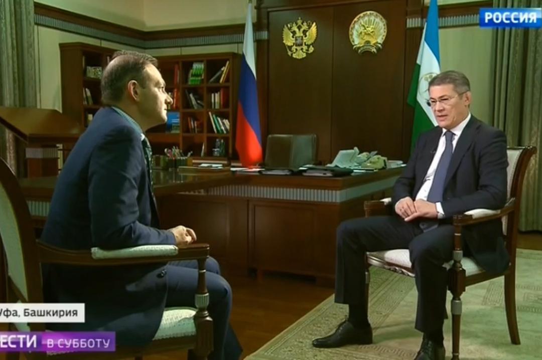 Журналист у главы Башкортостана