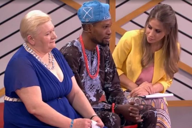 Нигерийский принц со своей избранницей на российском ТВ