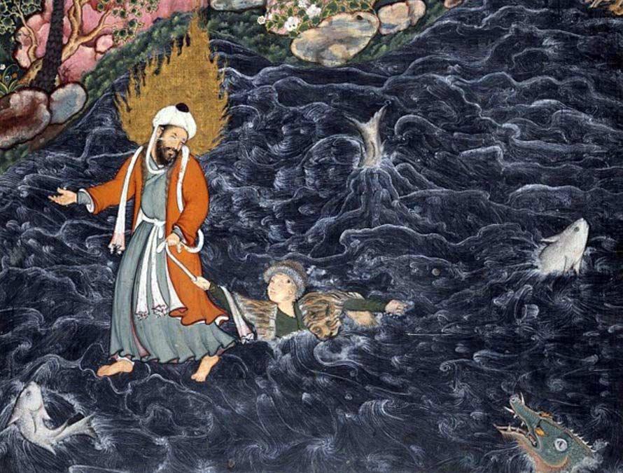 Ильяс на средневековой фреске