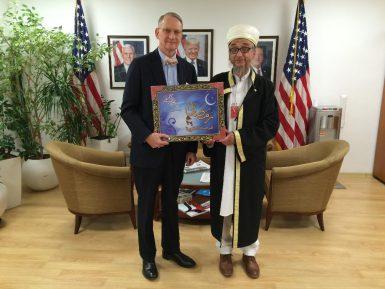 Муфтий преподнес символический подарок генконсулу США