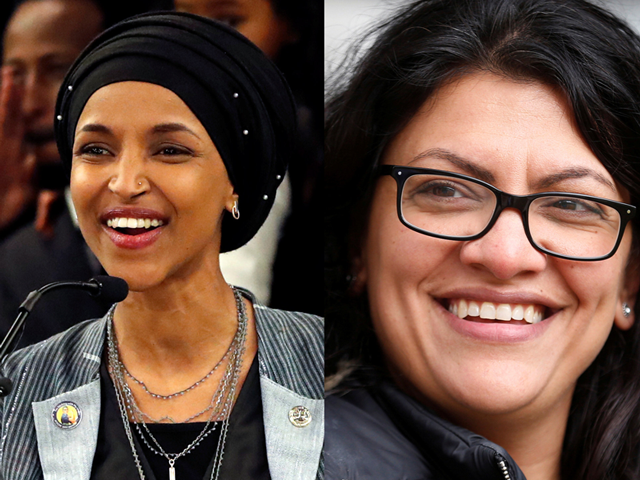 Политики-мусульманки Ильхан Омар и Рашида Тлаиб