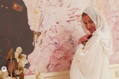 Волочкова примерила хиджаб