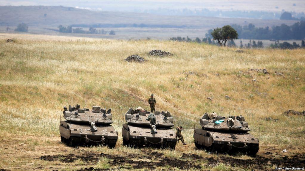 Израильские силовики на Голанах