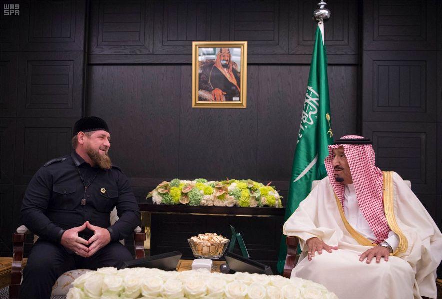 Кадыров на встрече с Салманом