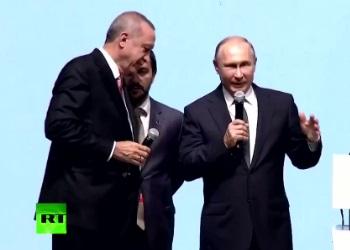 Путин сорвал овации на встрече с Эрдоганом (ВИДЕО)