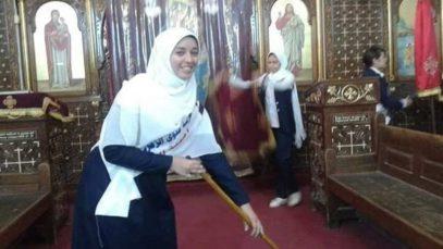 Мусульманки навели порядок в церкви
