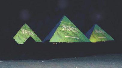 Пирамиды фараонов покрыли флагом Саудовской Аравии