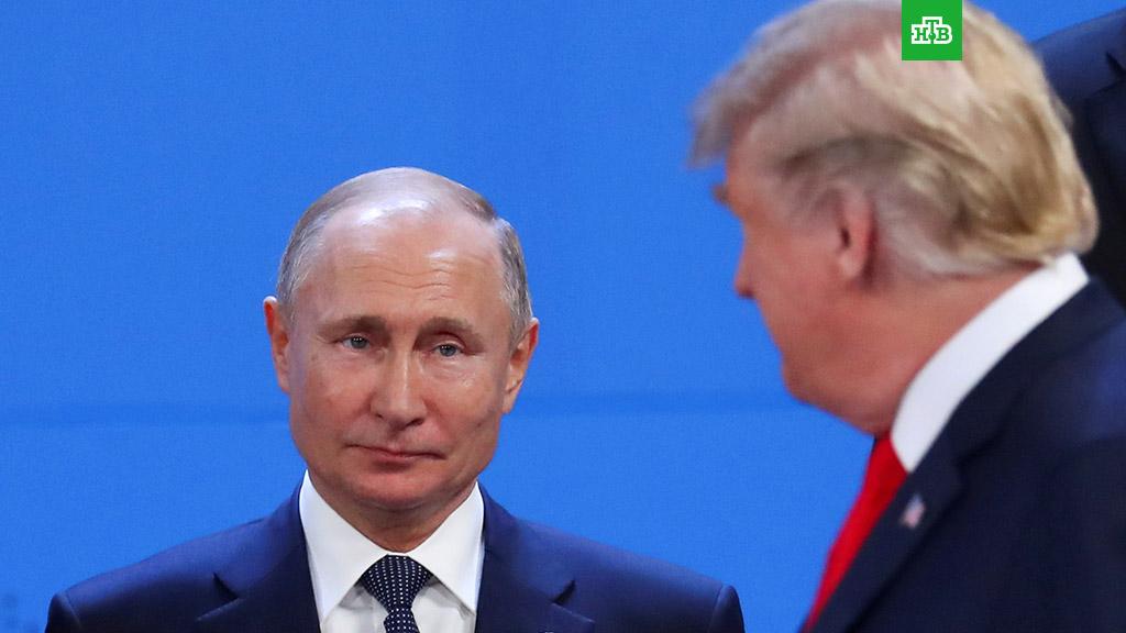 Владимир Путин и Дональд Трамп. Фото: НТВ