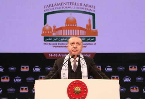 Эрдоган рассказал парламентариям об Иерусалиме и антисемитизме