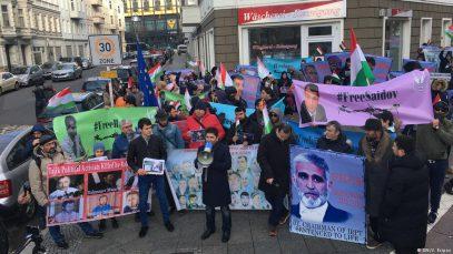 Политмигранты Таджикистана выразили протест в Берлине