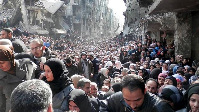 Палестинские беженцы в Сирии. Фото: АР