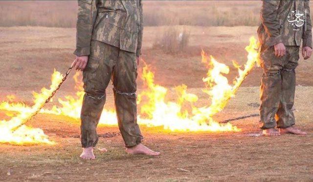 Момент казни, произведенной террористами ИГИЛ