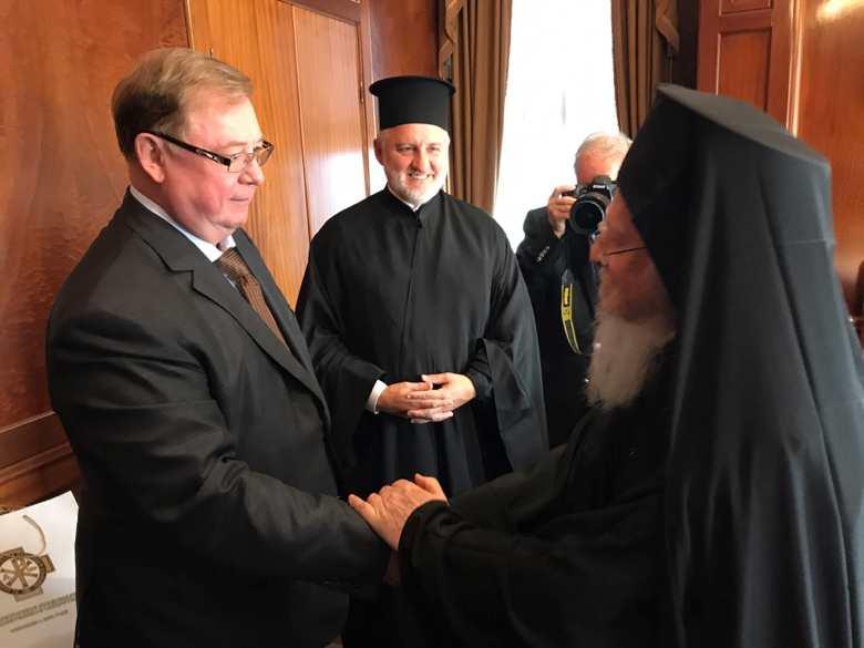 Встреча Сергея Степашина с патриархом Варфоломеем. Фото: ИППО
