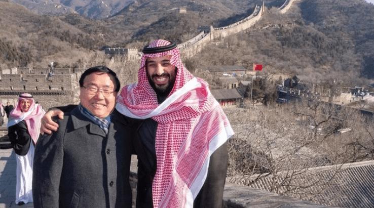 Принц Мухаммад на Великой Китайской стене