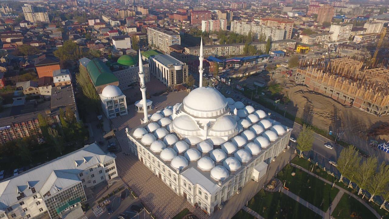 Джума-мечеть с высоты птичьего полета