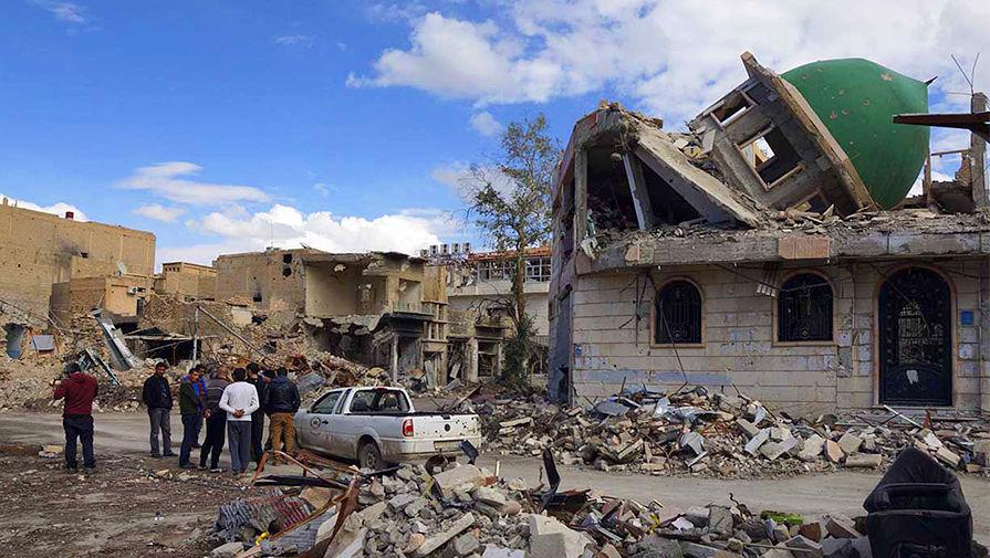Разрушения в сирийской провинции Дейр-эз-Зор