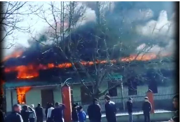 Пожар в мечети города Гудермеса