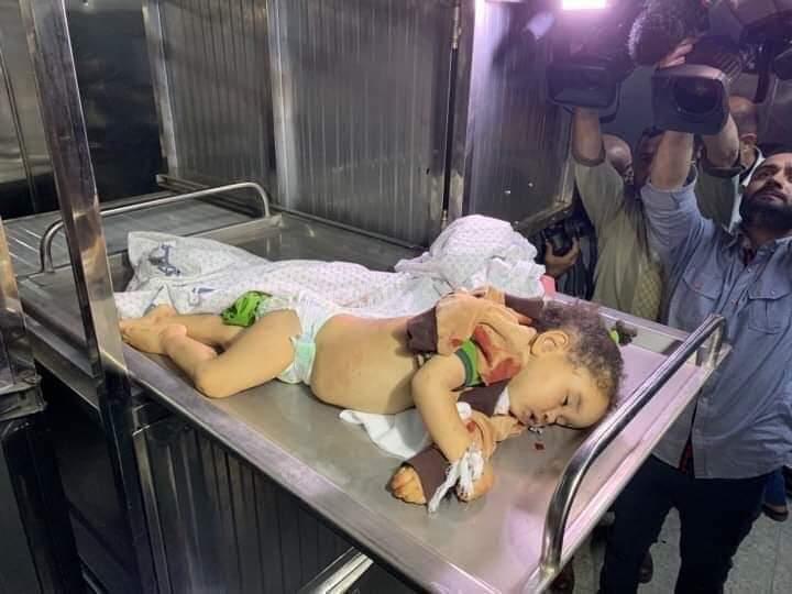 Погибший в результате атаки ребенок в Газе