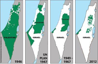 Карта захвата Палестины