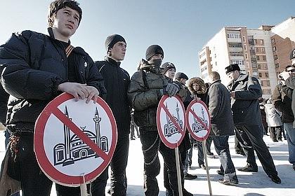 Акция против строительства мечети