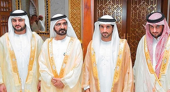 Шейх аль-Мактум с сыновьями