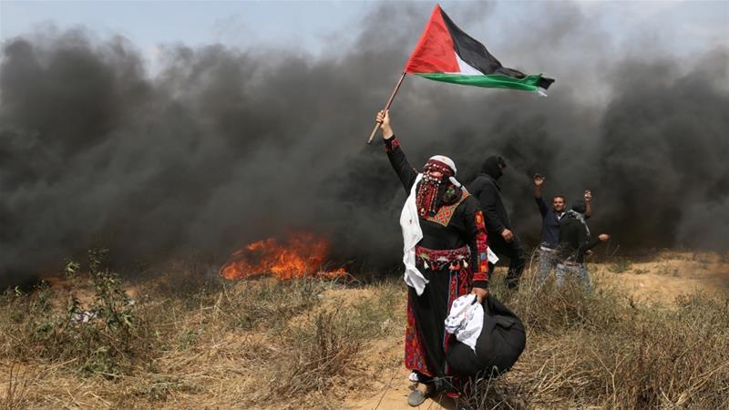 Акция протеста в Газе