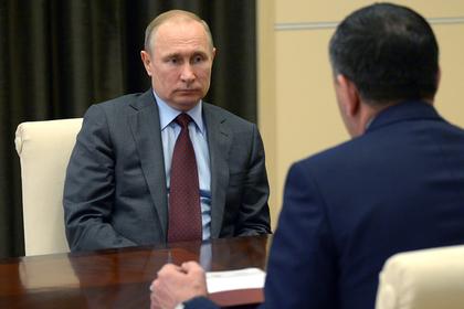 Владимир Путин на встрече с Юнус-Беком Евкуровым