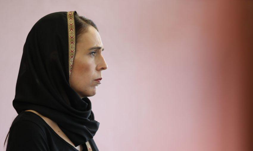 Джасинда Ардерн на одном из мероприятий, связанных с трагедией в Крайстчерче