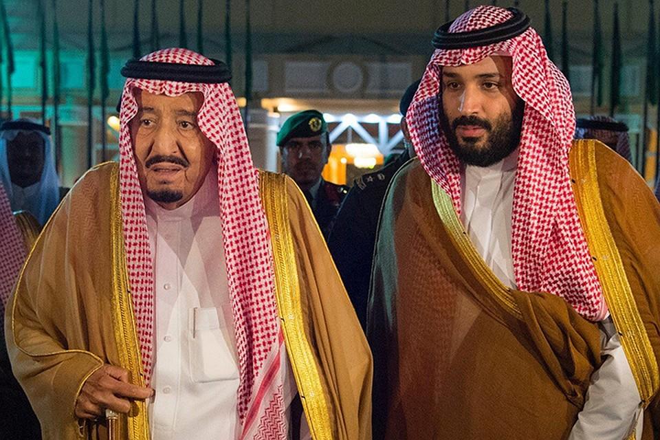 Король Саудовской Аравии с наследным принцем