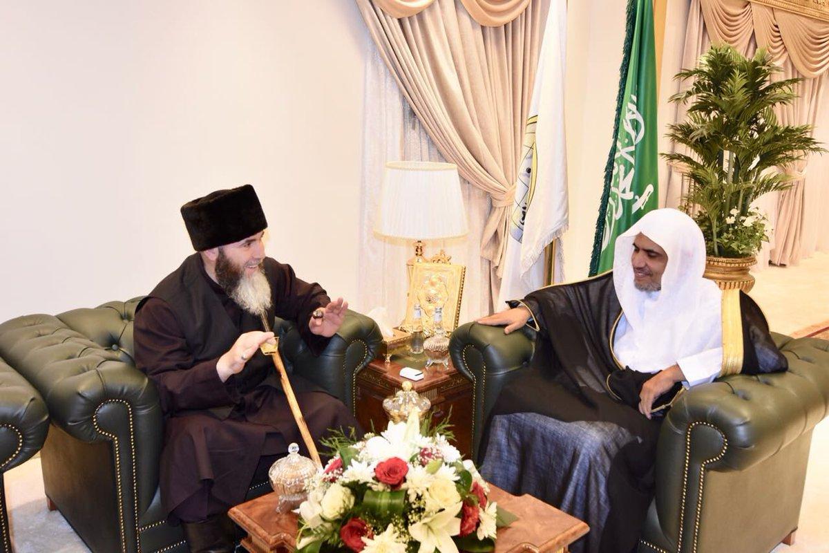 Муфтий ЧР Салах Межиев и глава ВИЛ шейх аль-Иса