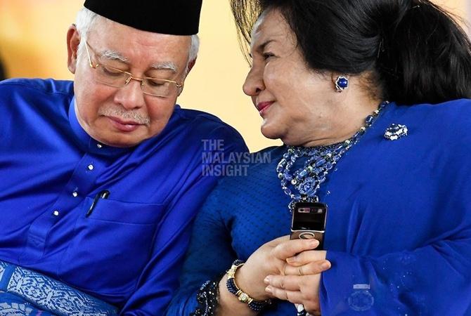 Наджиб Разак с супругой