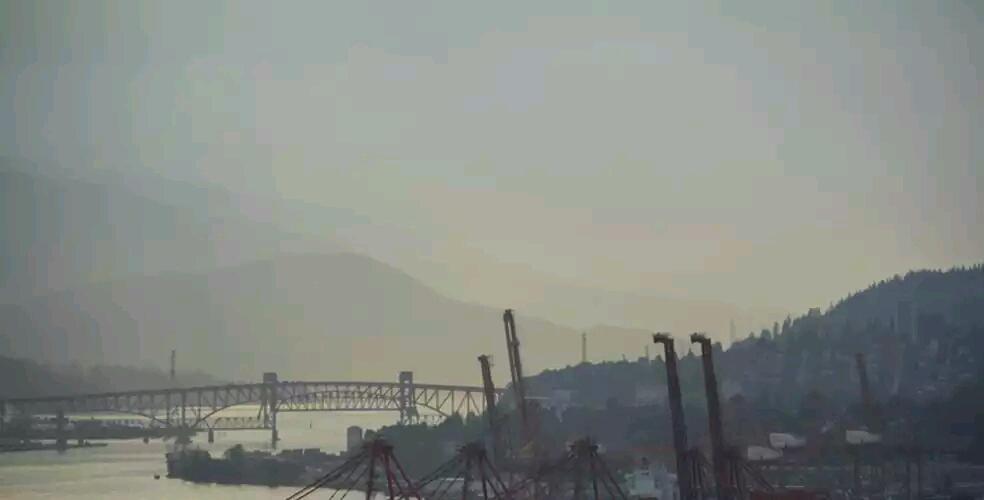 Ванкувер в дымке