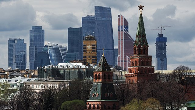 Вид на Кремль и Москву-сити