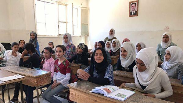 Сирийские школьницы