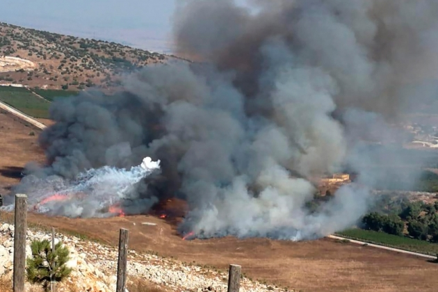 Израиль вответ наобстрел выпустил ракеты потерритории Ливана