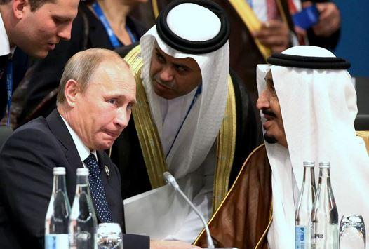 Владимир Путин с Салманом бен Абдельазизом