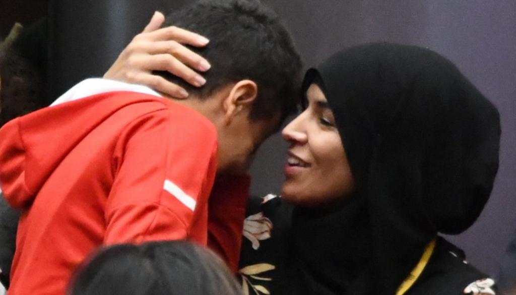 Фатима Е. с сыном