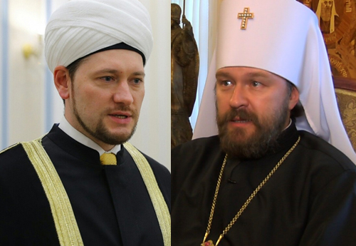 Дамир Мухетдинов и митрополит Иларион