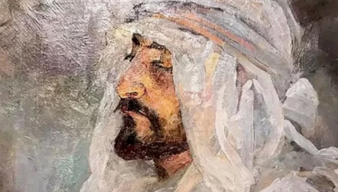 «Портрет Е. Татевосяна в бедуинской повязке» Александра Головина