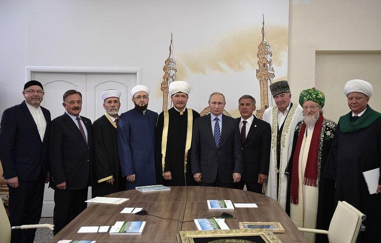 В.Путин, Р.Минниханов и мусульманские деятели в БИА