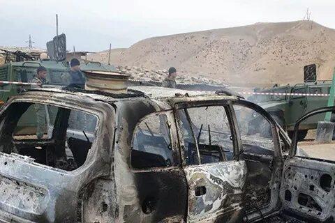 Сгоревший на границе автомобиль