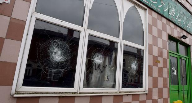 Одна из пострадавших мечетей