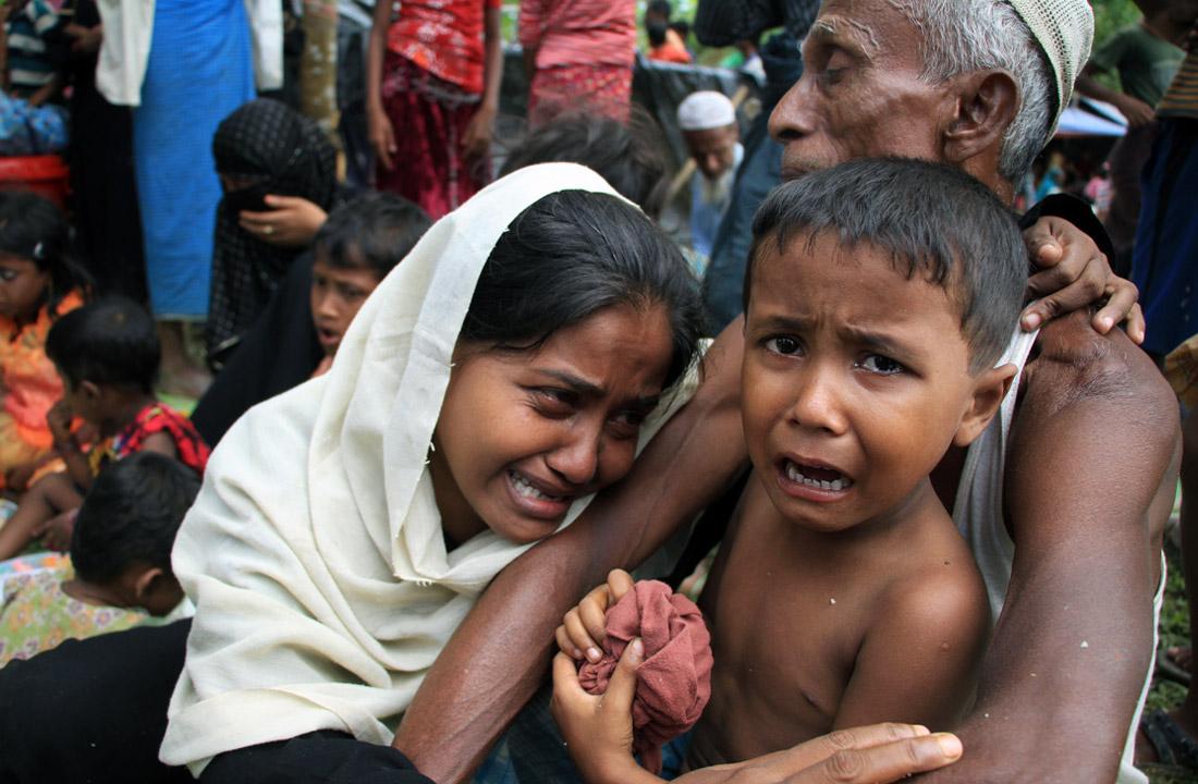 Спасшиеся мусульмане-рохинья