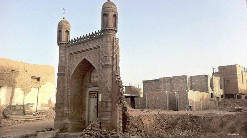 Снесенная мечеть в городе Кашгар
